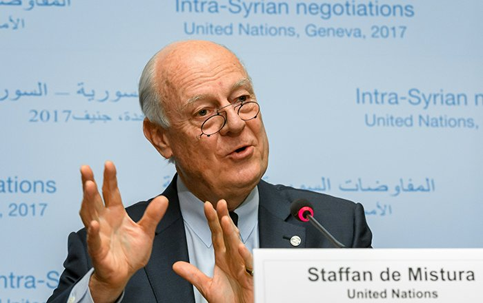 UN Syria Envoy Has High Hopes for Putin-Trump First Meeting