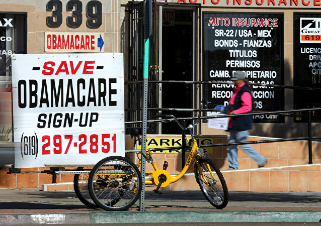 An insurance store advertises Obamacare in San Ysidro, California, US, January 25, 2017