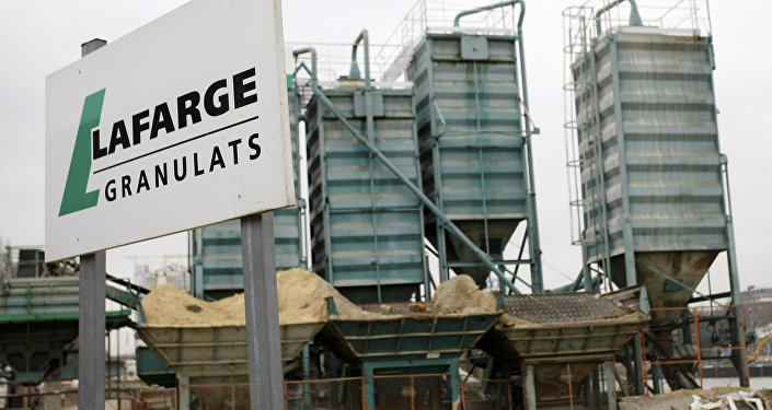 Lafarge plant is pictured in Paris. Cement group LafargeHolcim admitted on Thursday March 2, 2017 that unacceptable deals with armed groups in northern Syria allowed its activities there to continue