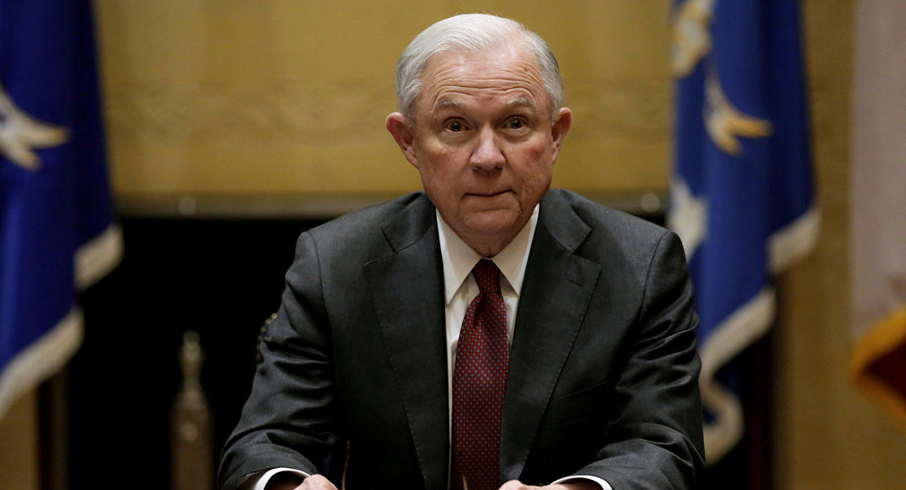 US Attorney General Jeff Sessions holds his first meeting with heads of federal law enforcement components at the Justice Department. in Washington U.S., February 9, 2017