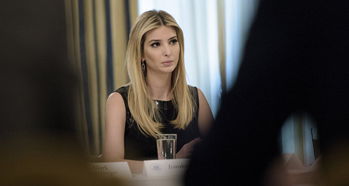 Ivanka Trump listens at the beginning of a policy and strategy forum with executives in the State Dining Room of the White House in Washington, DC. (File)