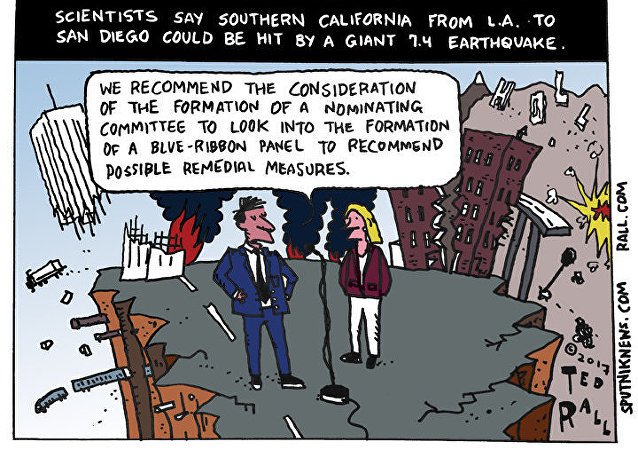 California Earthquake Cartoon