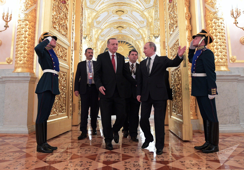 President Vladimir Putin takes part in Russian-Turkish Cooperation Council meeting