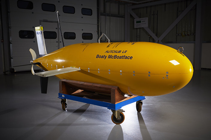 Boaty McBoatface as a yellow submarine
