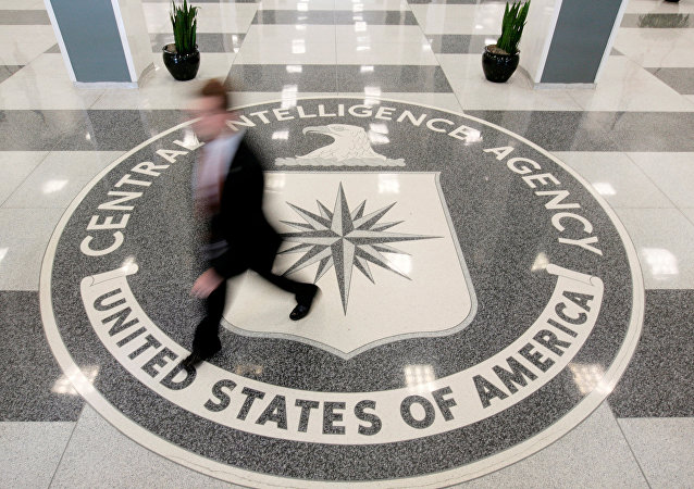 The lobby of the CIA Headquarters Building is pictured in Langley, Virginia, US