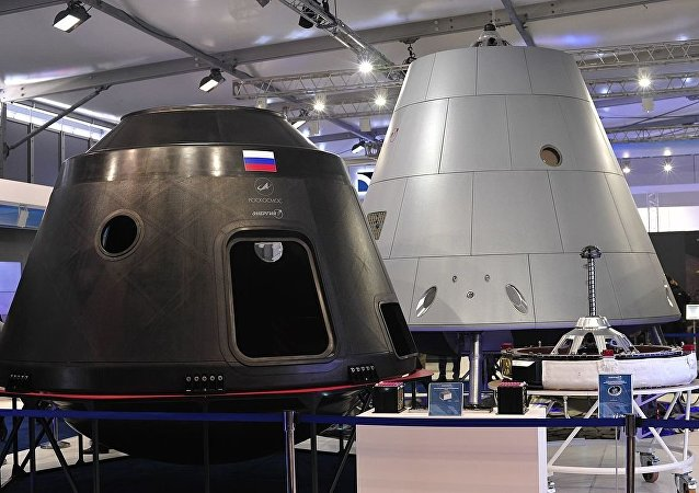 Mockup and test article of the Federation crew module