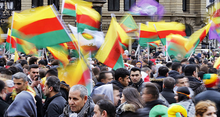 Thousands of Kurds celebrate the Newroz spring festival and protest against Turkish President Erdogan
