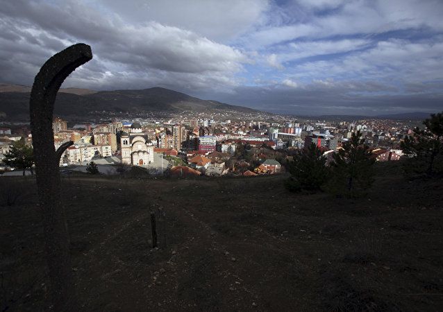 General view of the town of Mitrovica, Kosovo. (File)