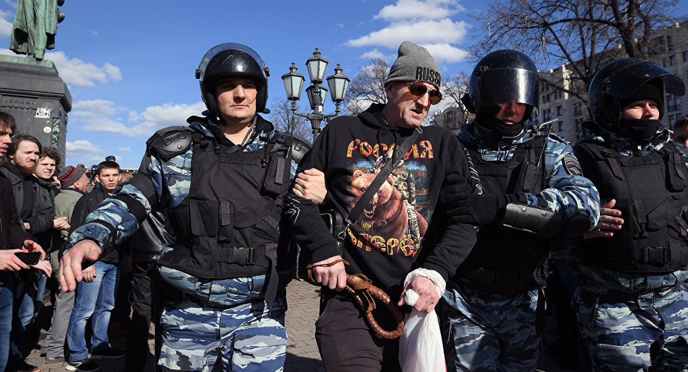 UN rights experts call on Russia to release protesters