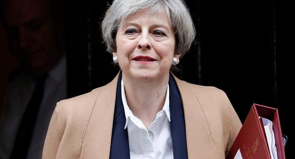 Britain's Prime Minister Theresa May leaves 10 Downing Street in London, March 29, 2017.