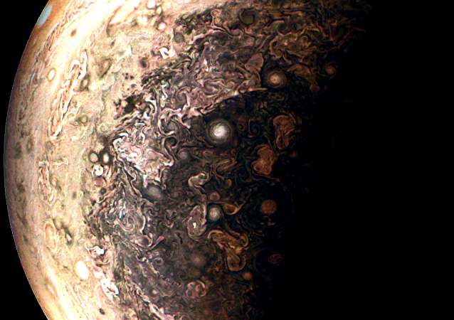 A photo of Jupiter from Juno. Contrast and Color changes both major and subtle to bring out details and also removed longest wavelength color channel to improve sharpness. And yes I did use mspaint for some of it!