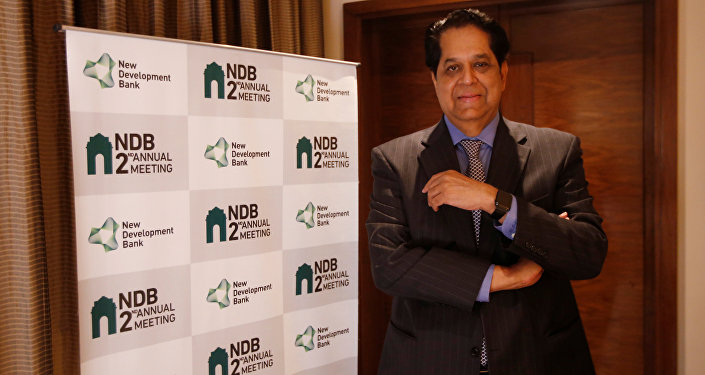 K. V. Kamath, President of New Development Bank, poses for a picture before start of an interview with Reuters, in New Delhi, India, March 30, 2017