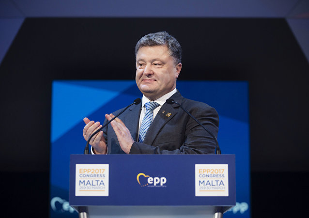President of Ukraine Petro Poroshenko speaks at the congress of European People's Party in Malta