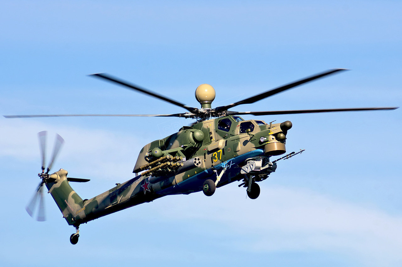 The Mi-28N helicopter