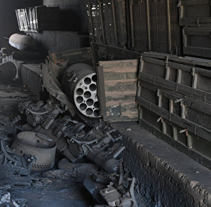 Aftermath of a US missile strike at an airbase in Syria