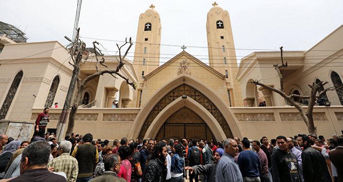 A Coptic church in Egypt. File photo