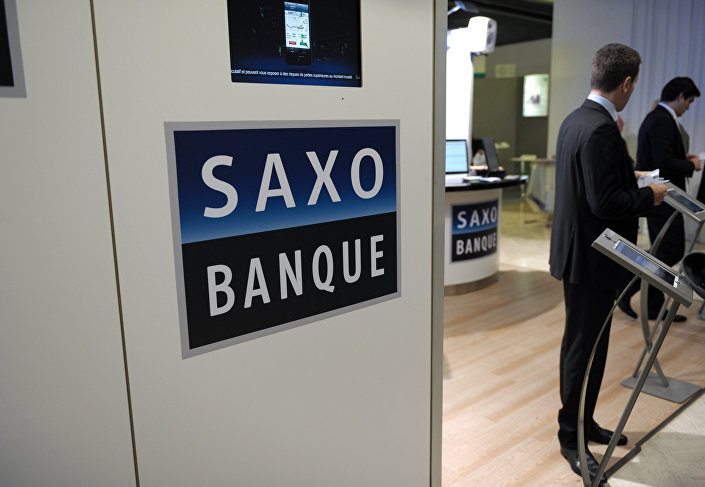 View of the stand of Saxo Banque France