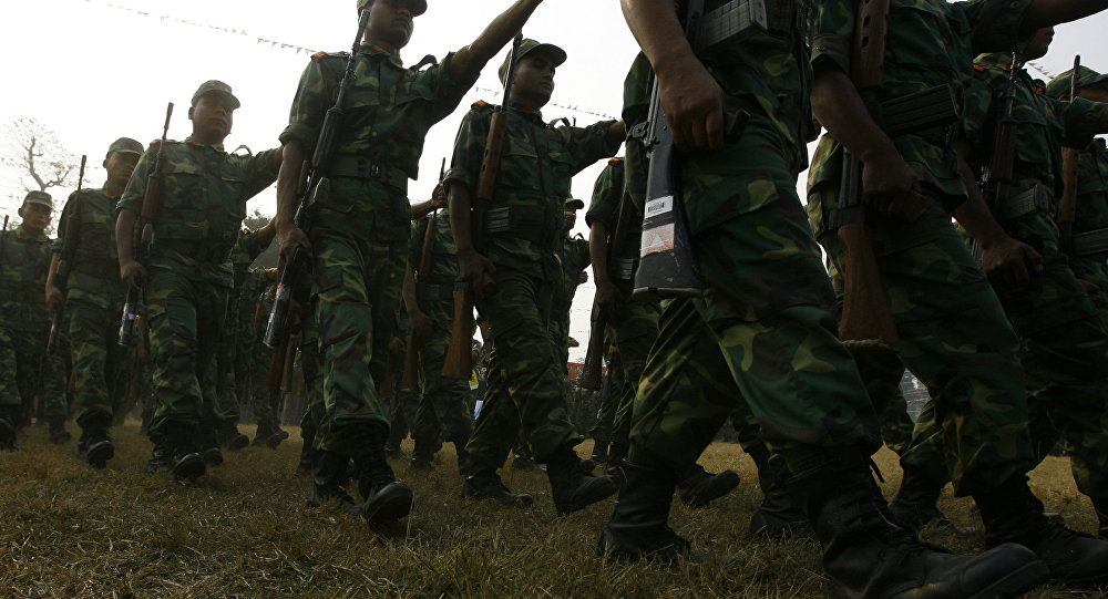 Nepalese former Maoist combatant parade. (File)