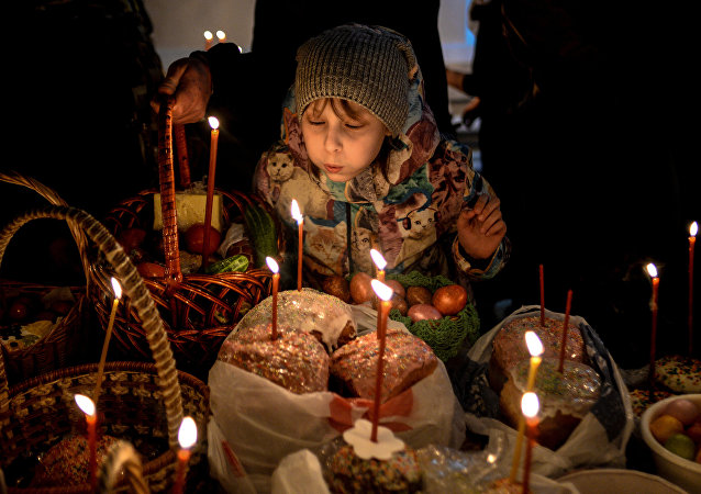 Easter celebrated in Russia
