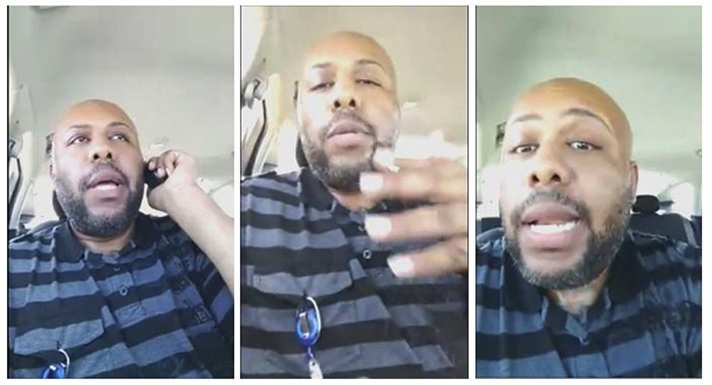 Man who killed and posted video on Facebook hunted by police
