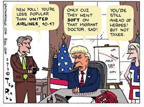Sad Trump Poll Cartoon