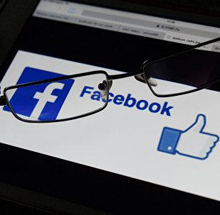 A Facebook logo
