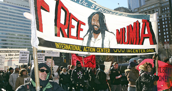 Demonstration in support of Mumia Abu Jamal, December 2006