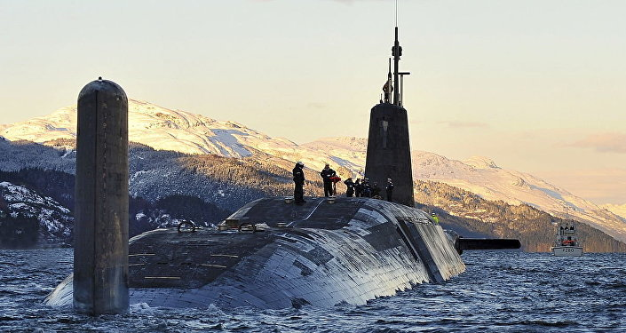 Nuclear Submarine HMS Vanguard Returns to HMNB Clyde, Scotland MOD