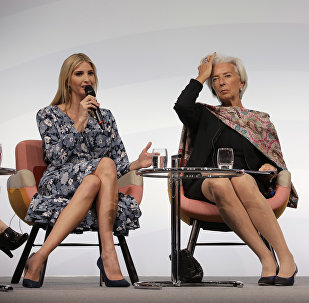 Ivanka Trump, daughter and adviser of U.S. President Donald Trump, International Monetary Fund Managing Director Christine Lagarde and German Chancellor Angela Merkel, from left, attend a panel at the W20 Summit in Berlin Tuesday, April 25, 2017