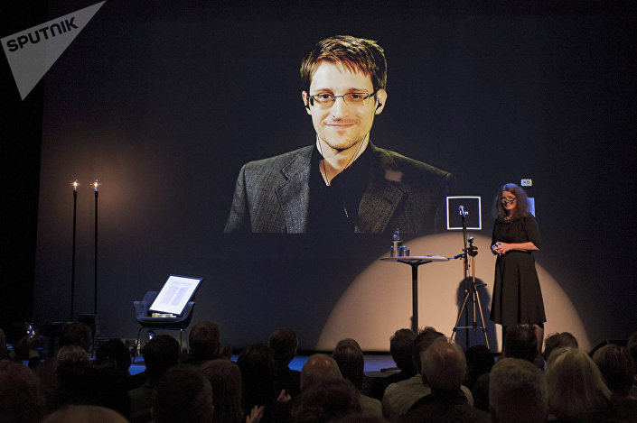 A chair is pictured on stage as former U.S. National Security Agency contractor Edward Snowden is awarded the Bjornson prize Molde, Norway, in this September 5, 2015 file photo
