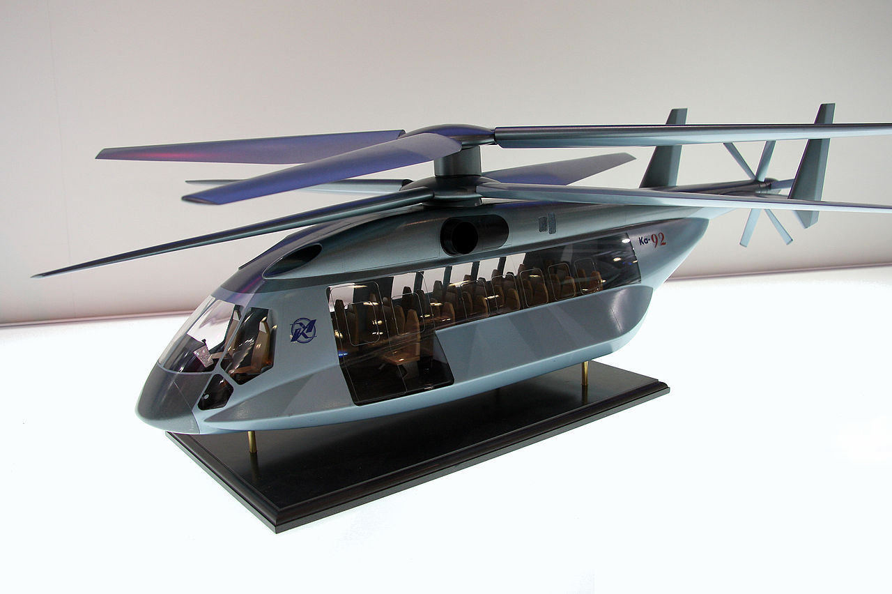 Model of Kamov Ka-92 helicopter