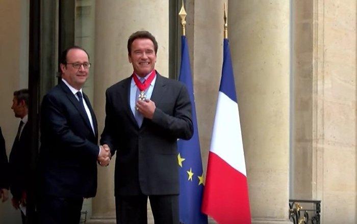 Arnold Schwarzenegger Receives Legion Of Honor