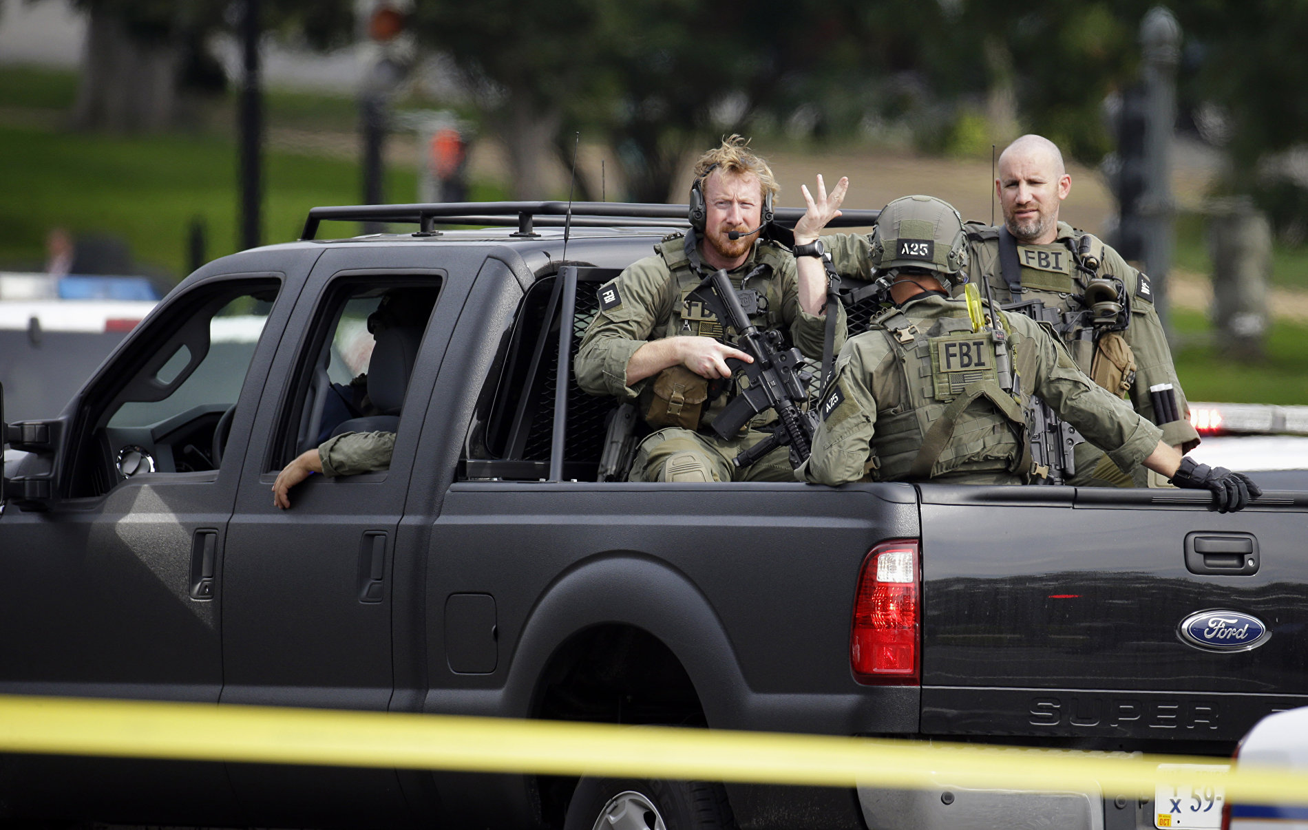 Members of the FBI Hostage Rescue Team arrive on Capitol Hill in Washington. (File)