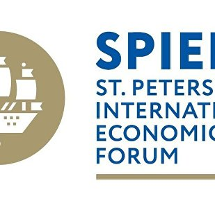The official logo of the St. Petersburg International Economic Forum 2017