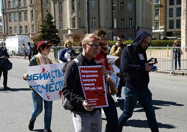 Opposition demonstration and rally in Moscow
