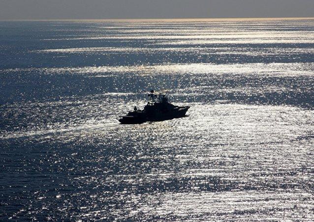 Severomorsk Large Anti-Submarine Ship in the Mediterranean Sea (File)