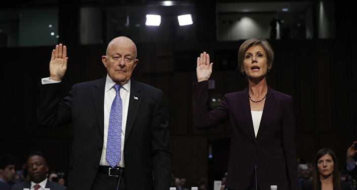 Former acting Attorney General Sally Yates and former National Intelligence Director James Clapper