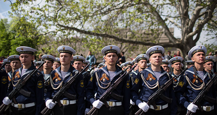 The Victory Day parade in Crimea's Sevastopol