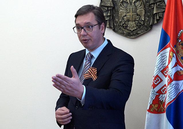 Serbian Prime Minister and President-elect Aleksandar Vucic