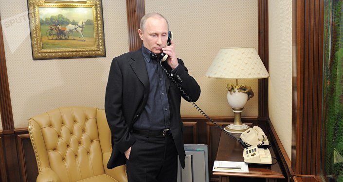 Vladimir Putin speaks by phone