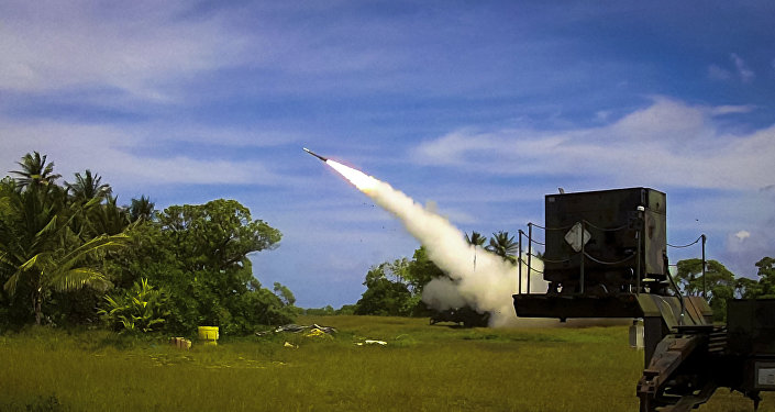 A Patriot Advanced Capability 3 (PAC-3) interceptor is launched from Omelek Island during MDA's historic integrated flight test on Oct. 24, 2012.