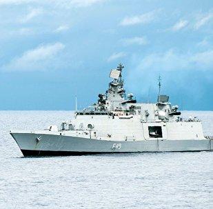 Indian Navy Shivalik-class stealth multi-role frigate INS Sahyadri (F49) (File)