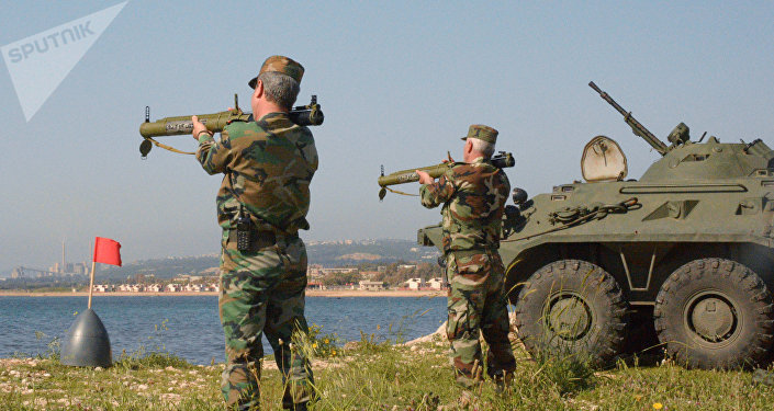 Russian, Syrian Marines Hold Joint Firing Drills in Port City of Tartus