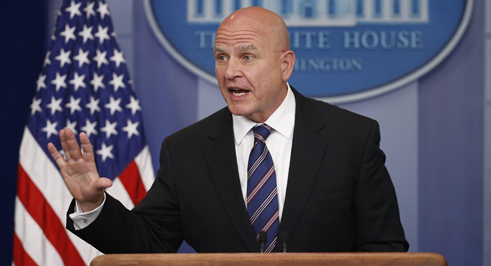 White House national security advisor H.R. McMaster speaks in the White House briefing room in Washington, U.S., May 16, 2017.