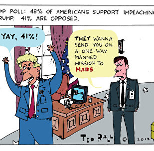 Trump Impeachment Poll Cartoon