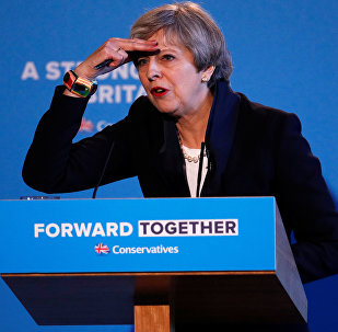 Britain's Prime Minister Theresa May's launches her election manifesto in Halifax, May 18, 2017.
