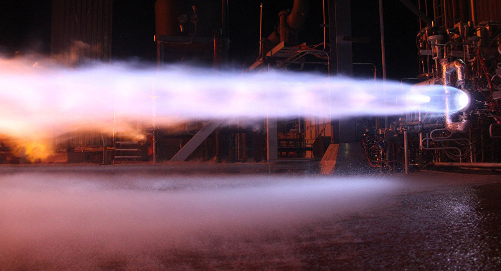 Blue Origin BE-4 engine test
