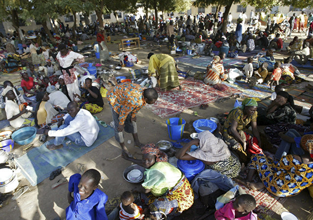 Chadian refugees are seen inside a refugee camp (File)