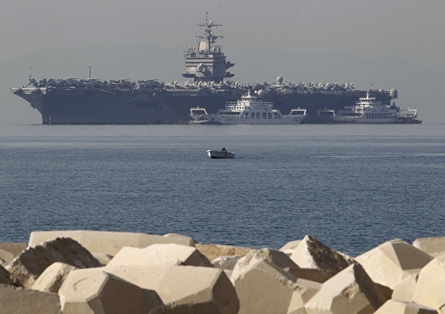 USS Enterprise, 5th Fleet, near the coast of Athens, 2012.