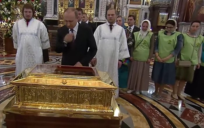 Putin Visits Relics Of St. Nicholas In Christ The Savior Cathedral
